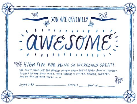 certificate of awesomeness template printable certificate of awesomeness
