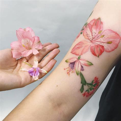 fuschia tattoo designs 50 enchanting flower tattoos for fall tattooblend
