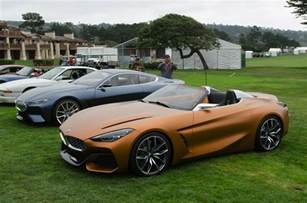 bmw concept z4 and 8 series coupe at pebble