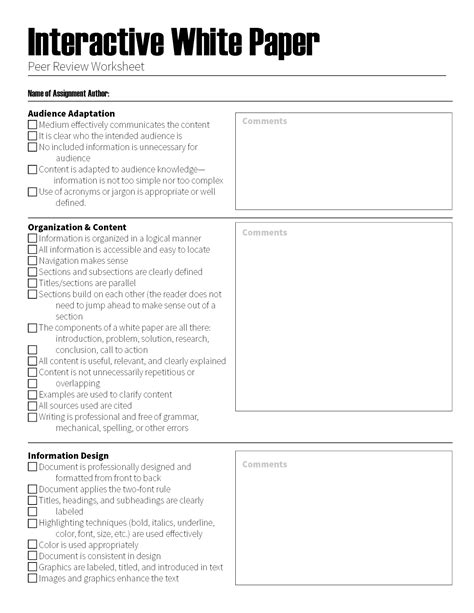 visual communication and design worksheets peer review worksheet switchconf