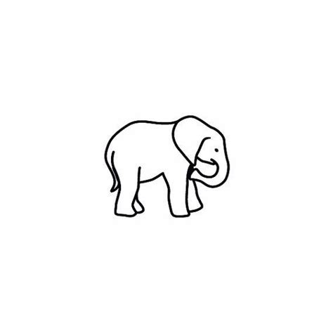 elephant tattoo outline 31 best elephant outline images on