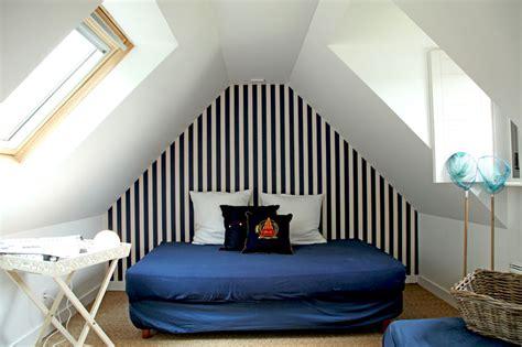 Chambre Bleu Marine Et Blanc