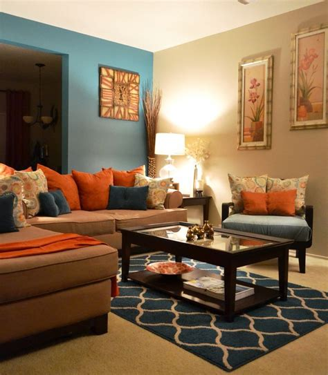 blue and brown home decor brown and blue living room decor home decorations