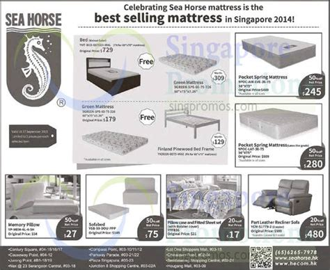 Mattress Singapore Promotion by Sea 2 Sep 2015 187 Sea Mattresses Sofa Offers