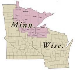 Minnesota Wisconsin Map by Friends Of Sax Zim Bog Brrrrdathon