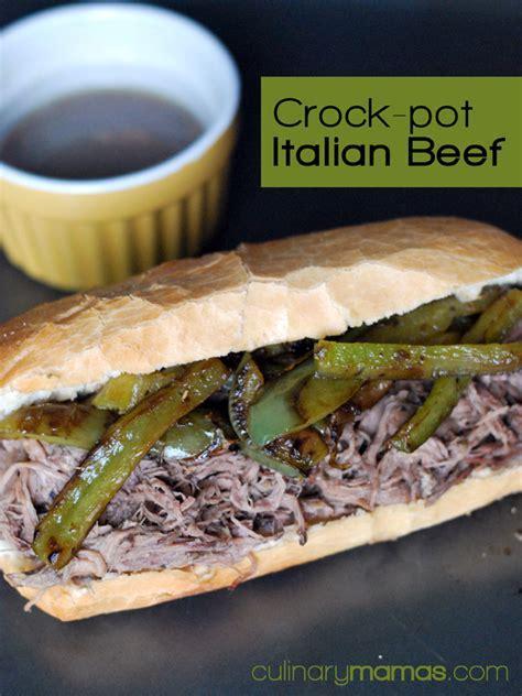 Crock Pot Italian Beef Sandwiches Recipe   Culinary Mamas