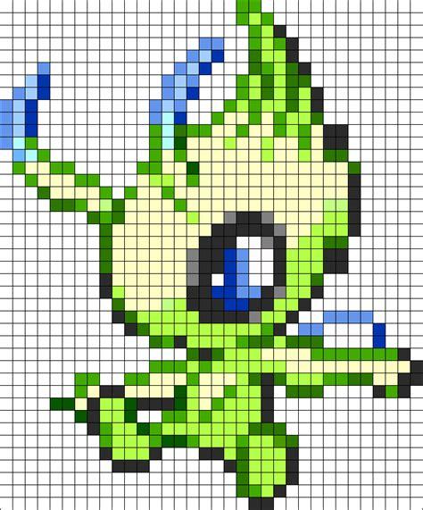 pattern decimal grid legendary celebi 251 perler bead pattern bead sprites