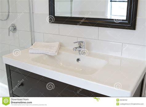Modern Contemporary Bathroom Vanities Black Bathroom Vanity And Mirror Stock Photo Image 26248702