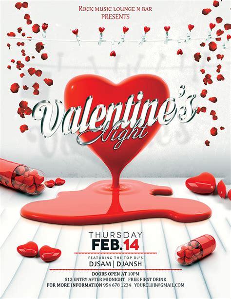 valentine flyer 53 fabulous psd valentine flyer templates