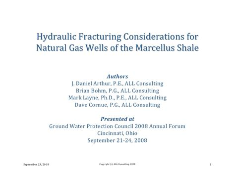 Handbook Of Hydraulic Fracturing hydraulic fracturing considerations for gas of the marc