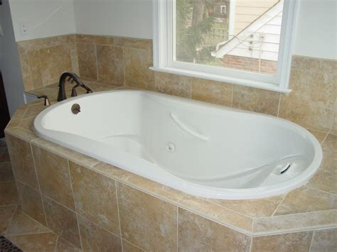 Tub Armchair Design Ideas New Drop In Bathtub Tile Ideas With Tub Corner Excerpt Clipgoo