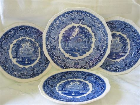 Blue And White Pattern Plates | masons blue and white ironstone quot vista quot pattern plates