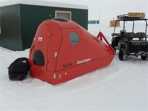 Teardrop Camper Floor Plans by The Poly Pod Snow Camper Equipped With Trimble Gps And