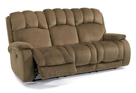 flexsteel kingsley casual power reclining sofa with plush
