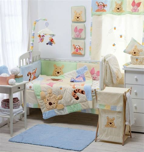 nursery cot bed sets hiding pooh crib bedding collection 4 pc crib bedding set ebay