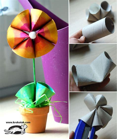 How To Make Toilet Paper Flowers - krokotak toilet roll flower
