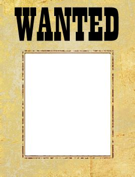 Printable Wanted Poster For Classroom | wanted poster template free most wanted poster template