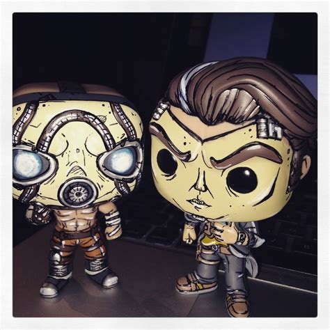 Pop Funko Borderlands Psycho psycho and handsome borderlands funko pops custom by steffanie leigh sfx arties and