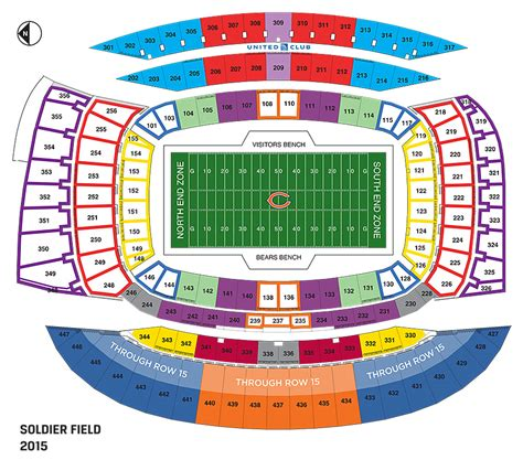 field seating chart chicago bears soldier field seating chart