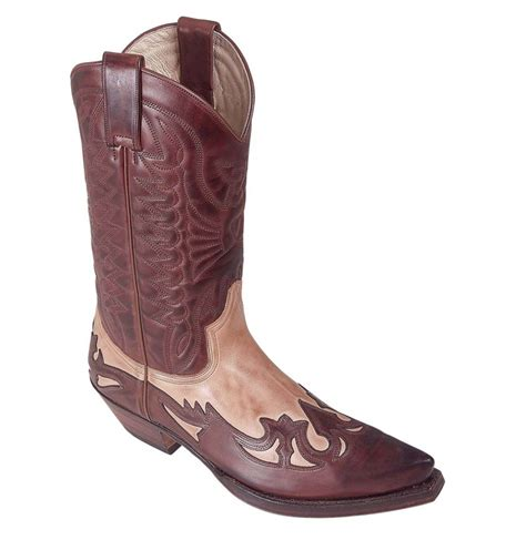 Handmade Mexican Boots - made to measure handmade brown and beige leather cowboy