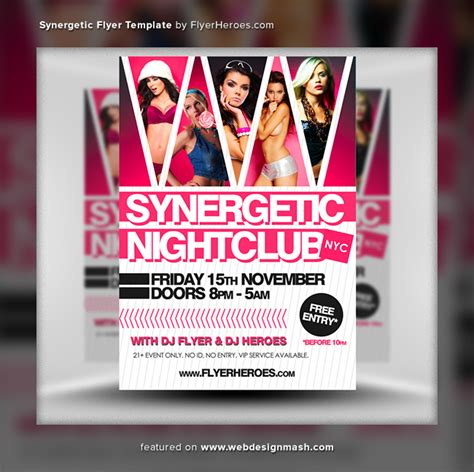 free club templates 20 new free club flyer templates website design