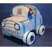 Windelauto S&252&223 Ein Auto Aus Windeln In Blau Und Rosa Windeltorte