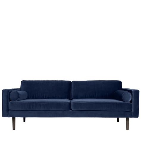 Velour Sofa by Broste Copenhagen Sofa Wind Velour I Bl 229 L 200 X H74 Cm
