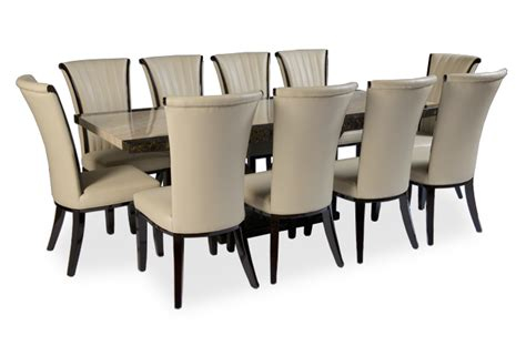 10 Seat Dining Table And Chairs 10 Chair Marble Dining Sets