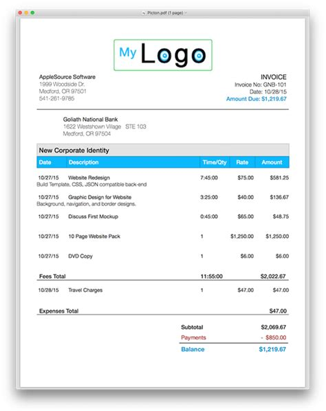 Invoice Template Pages Invoice Exle Pages Invoice Template