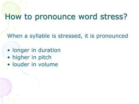 how to pronounce ppt word stress sentence stress powerpoint
