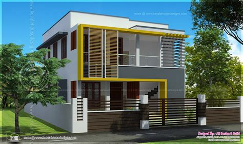 duplex house elevation 1000 sq each kerala home