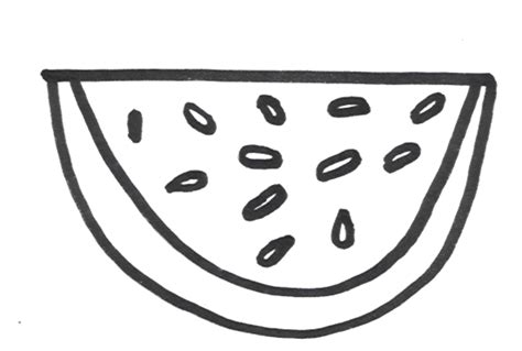 coloring page for watermelon free coloring pages of watermelon