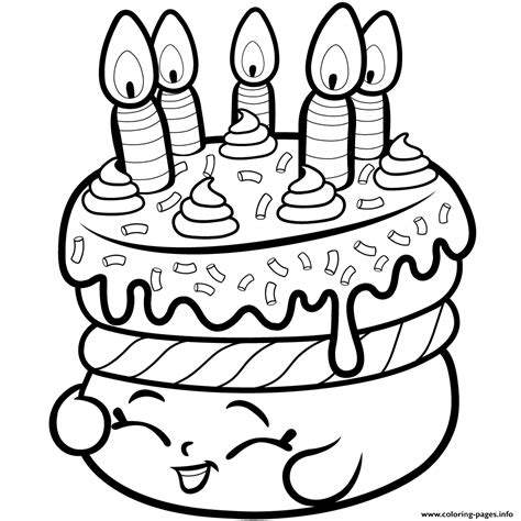 free coloring pages cakes print cake wishes shopkins season 1 from coloring pages