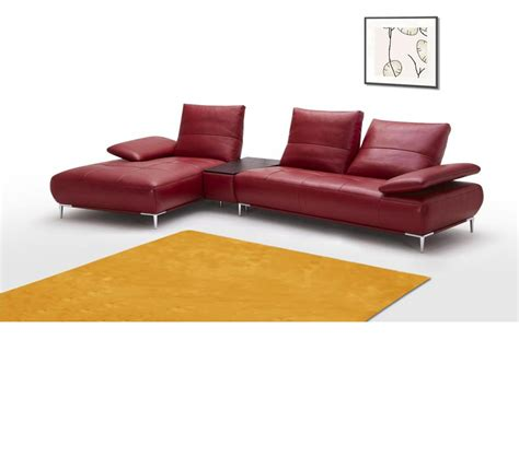 Contemporary Italian Leather Sectional Sofas Dreamfurniture 941 Contemporary Italian Leather Sectional Sofa