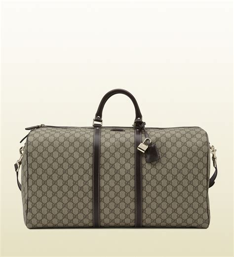 Gucci Duffle Bag gucci large carry on duffle bag in gray for beige lyst