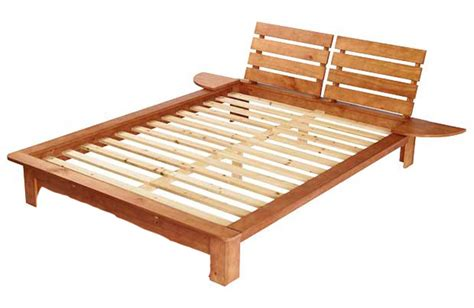 Wood King Bed Frame Diy King Size Wood Platform Bed Frame With Headboard And Built In Narrow Bedside Tables