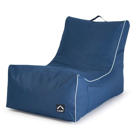 bean bags coastal lounge bean bag navy