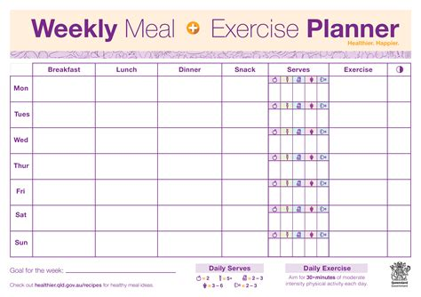 fitness plan template weekly weekly fitness plan template takeme pw
