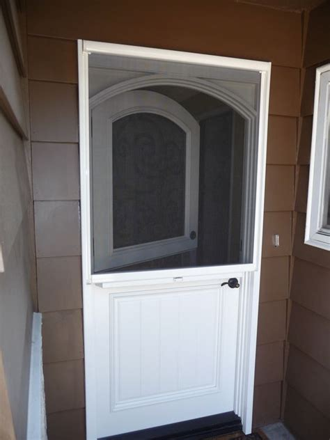 Screen Door For Front Door Doors Stowaway Arched Door Retractable Screen Systems 171 Lorge For The Home