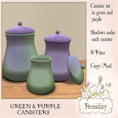 purple canister set kitchen second marketplace green purple canisters