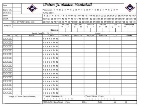 basketball stat sheet template printable basketball stat sheet new calendar template site