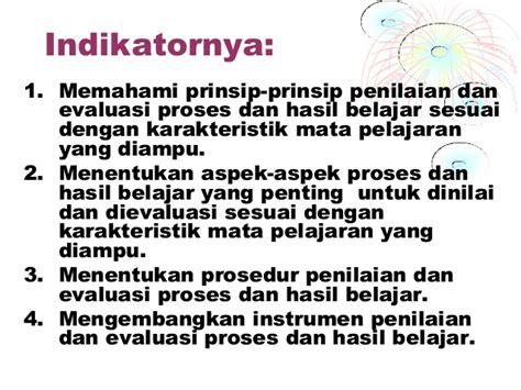 Evaluasi Pembelajaran Prinsip Teknik Dan Prosedur materi assesmen pembelajaran pps bag 1