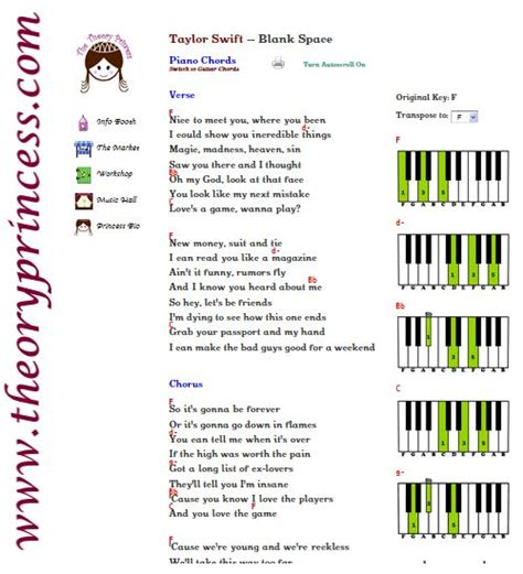 taylor swift chord blank space 7 best taylor swift piano guitar chords images on