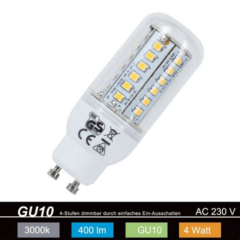 led leuchtmittel gu10 leuchten direkt led leuchtmittel gu10 4 watt 08257