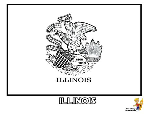 Illinois State Flag Coloring Page ch flag colouring pages