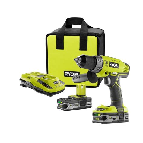 ryobi 18v one lithium hammer drill kit the home depot