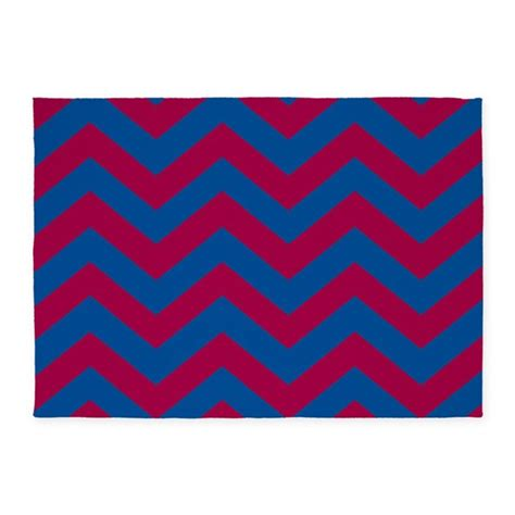 Chevron Pattern Area Rugs Chevron Zig Zag Pattern Blue 5 X7 Area Rug By Colors And Patterns 1