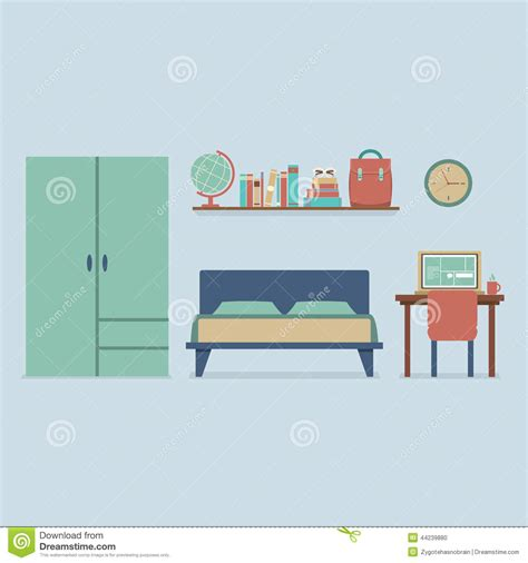 bedroom design vector flat design bedroom interior stock vector image 44239880