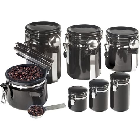 airtight kitchen canisters oggi 7 pc airtight canister set canisters food