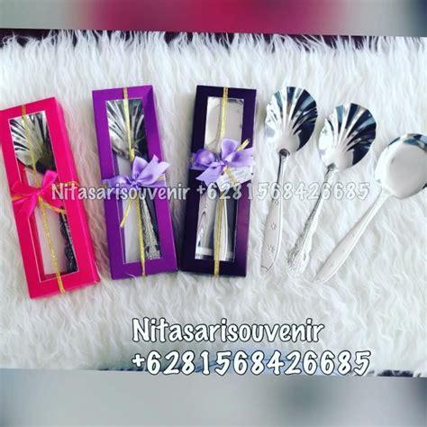 Souvenir Centong Kerang Kemas centong stenlis box warna